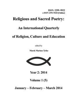 1/2014 - Religious and Sacred Poetry