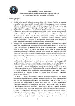 projekt zmian w Prawie wodnym – opinia B. Kolipińskiego