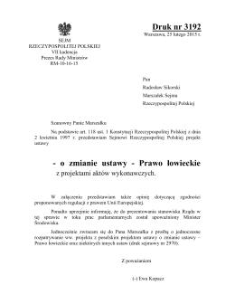 Prawo łowieckie - Krajowa Rada Izb Rolniczych