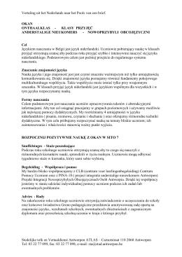 Vertaling uit het Nederlands naar het Pools van een brief. Stedelijke