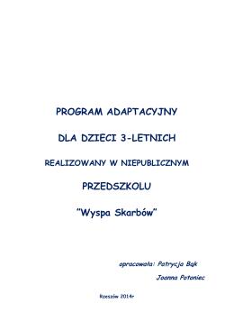 program adaptacyjny dla dzieci 3-letnich - Wyspa