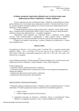 """""""Gminny program wspierania edukacji oraz"""