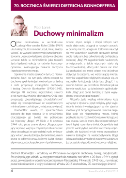 Duchowy minimalizm – Piotr Lorek