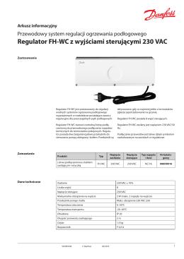 Regulator FH-WC z wyjściami sterującymi 230 VAC
