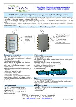 Urządzenia elektroniczne wykorzystywane w odpylaniu i