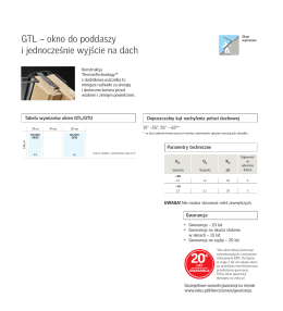 GTL – okno do poddaszy i jednocześnie wyjście na dach