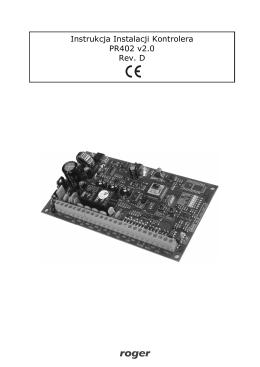 PR402 - instrukcja obsługi
