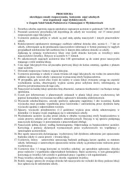 Procedura - Zespół Szkół w Mysłakowicach