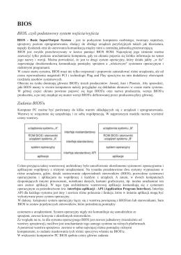 BIOS, czyli podstawowy system wejścia/wyjścia adania BIOS`u