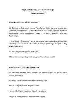 Regulamin Studenckiego Konkursu