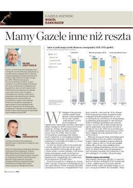 Mamy Gazele inne niż reszta - Przedsiębiorczość, polityka, rozwój.
