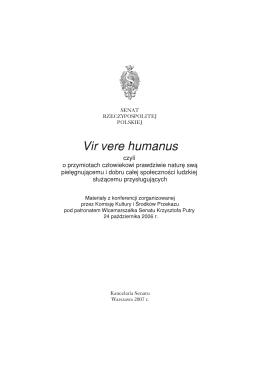Vir vere humanus - Senat RP - Senat Rzeczypospolitej Polskiej