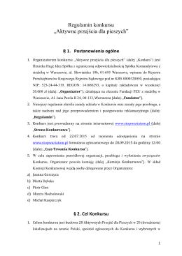 Regulamin konkursu - STOP Wariatom Drogowym