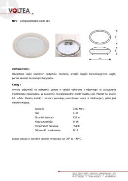 OVO – energooszczędna lampa LED Zastosowanie