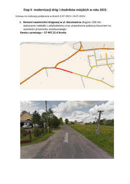 Etap II modernizacji dróg i chodników miejskich w roku 2015.