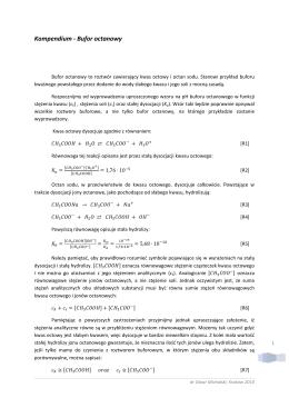 Kompendium - Bufor octanowy