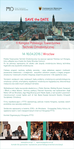 save the date PTTO Wrocław