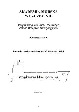 instrukcja do ćwiczenia 9 - Inżynieria Ruchu Morskiego
