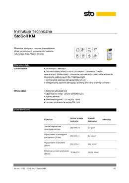 Instrukcja Techniczna StoColl KM