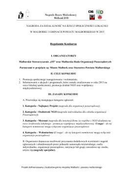 regulamin konkursu 2015