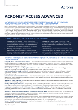 ACRONIS® ACCESS ADVANCED