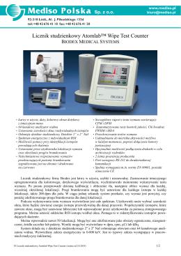 Licznik studzienkowy Atomlab™ Wipe Test Counter