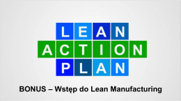 Wstęp do Lean Manufacturing