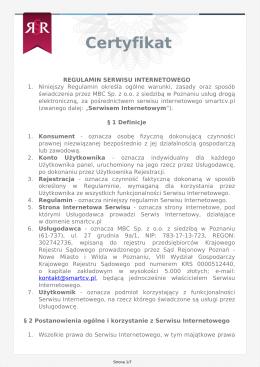 Regulamin - Smart CV