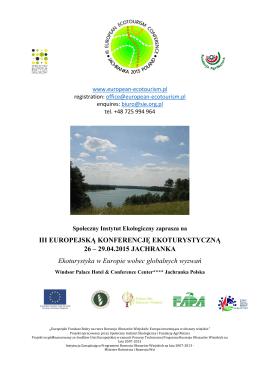 Pobierz zaproszenie - Społeczny Instytut Ekologiczny
