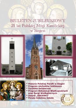 BIULETYN JUBILEUSZOWY 25 lat Polskiej Misji Katolickiej w Siegen