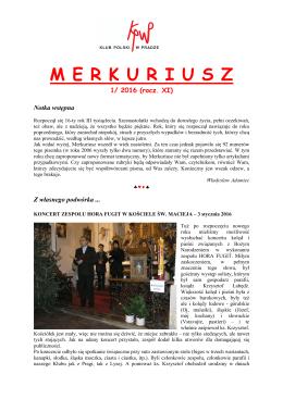 Merkuriusz nr. 1/2016 - Klub Polski w Pradze