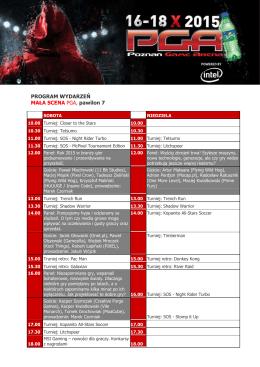 Program wydarzeń - Poznań Game Arena