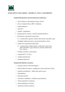 APARTAMENTY ŻEGLARSKIE - VĘGORIA UL. MAŁA 6