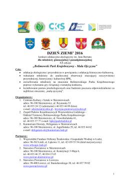 DZIEŃ ZIEMI` 2016 - Centrum Kultury i Sztuki w Skierniewicach