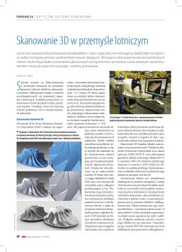 Skanowanie 3D w przemyśle lotniczym