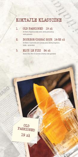 karta koktajli i napojów novocaina 2015