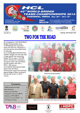 Bulletin 15 - World Bridge Federation
