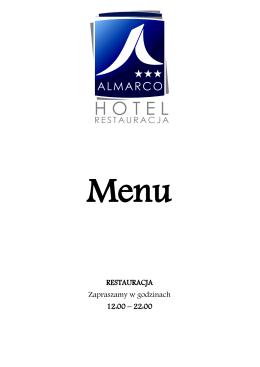 menu Almarco