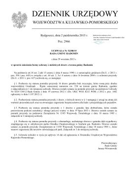 Uchwała Nr XI/88/15 z dnia 29 września 2015 r.