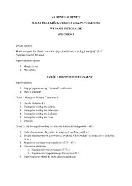 KS. RENÉ LAURENTIN MATKA PANA KRÓTKI TRAKTAT TEOLOGII