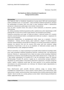 """Konferencja """"Matki Polki Przedsiębiorczynie"""" Materiały"""