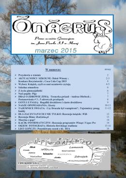2015 Marzec - Gimnazjum im. Jana Pawła II w Iłowej