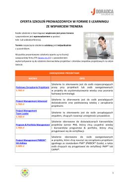 Oferta szkoleń elearningowych - Doradca Consultants Ltd. Sp. z o. o.