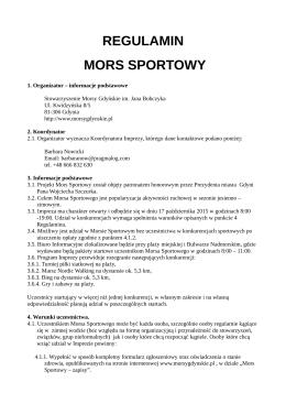 REGULAMIN MORS SPORTOWY