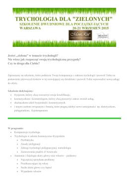 Trychologia dla zielonych