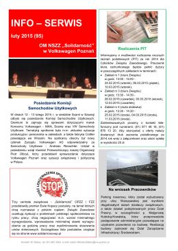 INFO – SERWIS - Solidarność w Volkswagen Poznań