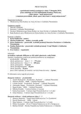 protokół i wyniki konkursu - Młodzieżowy Dom Kultury im. Ireny