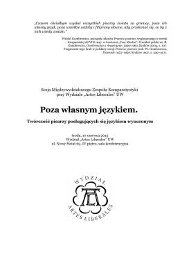 program - EWA ŁUKASZYK