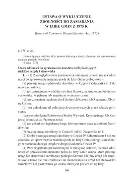 Ustawa o wykluczeniu możliwości członkostwa w Izbie Gmin z 1975 r.