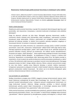 Nowoczesny i konkurencyjny polski przemysł